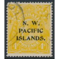 AUSTRALIA / NWPI - 1916 4d chrome-yellow KGV Head, overprint type 6c, used – SG # 70b