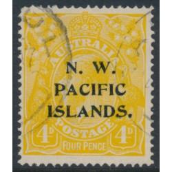 AUSTRALIA / NWPI - 1916 4d chrome-yellow KGV Head, overprint type 6c, used – SG # 70b