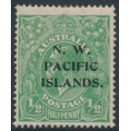 AUSTRALIA / NWPI - 1918 ½d deep bluish green KGV Head, large multiple watermark, MH – SG # 119