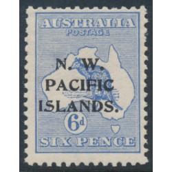 AUSTRALIA / NWPI - 1915 6d ultramarine Kangaroo, 1st watermark inverted, MH – SG # 78w