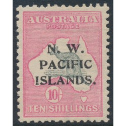 AUSTRALIA / NWPI - 1915 10/- grey/pink Kangaroo, 1st watermark, overprint type 6a, MH – SG # 84