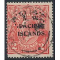 AUSTRALIA / NWPI - 1922 2d rose-red KGV Head, single watermark, perf. OS, used – SG # O19