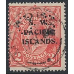 AUSTRALIA / NWPI - 1922 2d rose-red KGV Head, single watermark, perf. OS, used – SG # O19