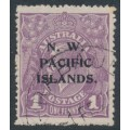 AUSTRALIA / NWPI - 1919 1d pale violet KGV Head, on coarse mesh paper, used  – SG # 120