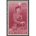 NEW ZEALAND - 1954 5/- carmine QEII on a horse, MNH - SG # 735