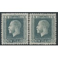 NEW ZEALAND - 1915 ½d slate-grey KGV definitive, perf. 14:13½ & perf. 14:14½, MH – SG # 416 + 416a