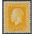 NEW ZEALAND - 1915 2d yellow KGV definitive, perf. 14:14½, MH – SG # 418a