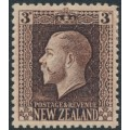 NEW ZEALAND - 1915 3d chocolate KGV definitive, perf. 14:14½, MH – SG # 420a