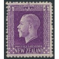 NEW ZEALAND - 1916 4d bright violet KGV definitive, perf. 14:14½, MH – SG # 422e