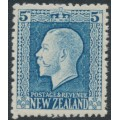 NEW ZEALAND - 1915 5d light blue KGV definitive, perf. 14:13½, MH – SG # 424