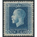 NEW ZEALAND - 1921 8d indigo-blue KGV definitive, perf. 14:14½, MH – SG # 427a