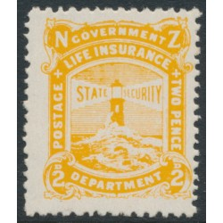 NEW ZEALAND - 1946 2d yellow Lighthouse Life Insurance issue, MNH – SG # L39