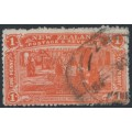 NEW ZEALAND - 1906 1d vermillion NZ Exhibition, used – SG # 371