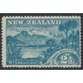 NEW ZEALAND - 1898 2½d blue Lake Wakitipu, no watermark, perf. 15:15, MH – SG # 249
