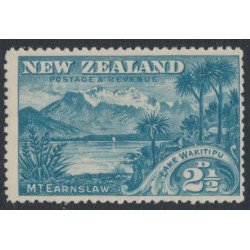 NEW ZEALAND - 1898 2½d blue Lake Wakitipu, no watermark, perf. 15:15, MH – SG # 249
