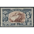 NEW ZEALAND - 1936 2½d chocolate/slate Mt Cook, multi NZ star watermark, perf. 13½:13½, MH – SG # 581