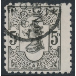 NEW ZEALAND - 1893 5d olive-black QV, wide spaced NZ star watermark, perf 10:10, used – SG # 223