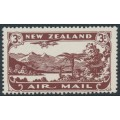 NEW ZEALAND - 1931 3d chocolate Airmail, mint never hinged – SG # 548