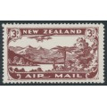 NEW ZEALAND - 1931 3d chocolate Airmail, mint hinged – SG # 548