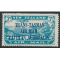 NEW ZEALAND - 1934 7d light blue Airmail overprinted 'Faith in Australia', MH – SG # 554