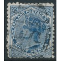 NEW ZEALAND - 1885 8d blue QV (Second Sideface), NZ star watermark (6mm), perf. 12:11½, used – SG # 192