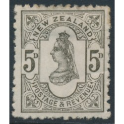 NEW ZEALAND - 1891 5d olive-black QV (2nd Sideface), NZ star watermark (7mm), perf. 12:11½, MH – SG # 200