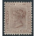 NEW ZEALAND - 1882 6d brown QV (die I, 2nd Sideface), NZ star watermark (6mm), perf. 12:11½, MH – SG # 191