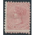 NEW ZEALAND - 1891 1/- red-brown QV (2nd Sideface), NZ star watermark (7mm), perf. 10:10, MH – SG # 226