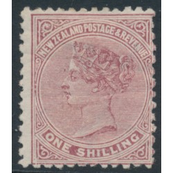 NEW ZEALAND - 1898 1/- red-brown QV (2nd Sideface), NZ star watermark (7mm), perf. 12:11½, MH – SG # 203