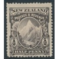 NEW ZEALAND - 1898 ½d purple-black Mt. Cook, perf. 15:15, no watermark, MH – SG # 246c