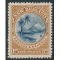 NEW ZEALAND - 1898 1d blue/yellow-brown Lake Taupo, perf. 15:15, no watermark, MH – SG # 247