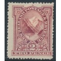 NEW ZEALAND - 1898 2d rosy lake Pembroke Peak, perf. 15:15, no watermark, MH – SG # 248b