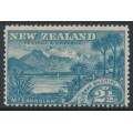 NEW ZEALAND - 1898 2½d blue Lake Wakitipu, perf. 15:15, no watermark, MH – SG # 249a