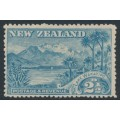 NEW ZEALAND - 1898 2½d blue Lake Wakatipu, perf. 14:14, no watermark, MH – SG # 250