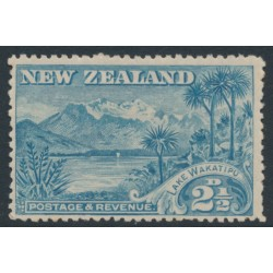 NEW ZEALAND - 1898 2½d blue Lake Wakatipu, perf. 14:14, no watermark, MH – SG # 250