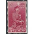 NEW ZEALAND - 1954 5/- carmine QEII on a horse, MNH – SG # 735