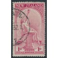 NEW ZEALAND - 1932 1d+1d carmine Hygeia Health Stamp, used – SG # 552