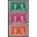 NEW ZEALAND - 1935 ½d to 6d KGV Silver Jubilee set of 3, used – SG # 573-575