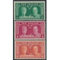 NEW ZEALAND - 1935 ½d to 6d KGV Silver Jubilee set of 3, MH – SG # 573-575