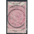 NEW ZEALAND - 1895 6/- rose QV Stamp Duty, perf. 11:11, NZ star watermark (7mm), used – SG # F61