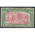 NEW ZEALAND - 1906 6d pink/olive-green NZ Exhibition, mint hinged – SG # 373