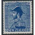 NEW ZEALAND - 1926 2/- deep blue King George V (Admiral), mint hinged – SG # 466