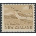 NEW ZEALAND - 1960 1/9 bistre-brown Aerial Top Dressing, MNH – SG # 794