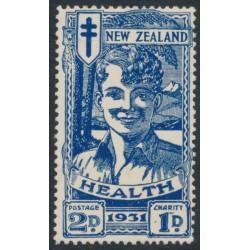 NEW ZEALAND - 1931 2d+1d deep blue Smiling Boy Health Stamp, MH – SG # 547