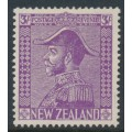 NEW ZEALAND - 1926 3/- mauve King George V (Admiral), mint hinged – SG # 467