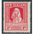 NEW ZEALAND - 1929 1d+1d scarlet Health Stamp, MH – SG # 544
