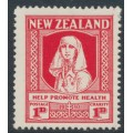 NEW ZEALAND - 1930 1d+1d scarlet Health Stamp, MH – SG # 545