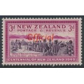 NEW ZEALAND - 1940 3d purple/carmine Centennial, o/p OFFICIAL, MNH – SG # O146