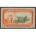 NEW ZEALAND - 1940 6d emerald-green/violet Centennial, o/p OFFICIAL, MNH – SG # O148