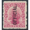 NEW ZEALAND - 1925 1d red Universal, printed NZ star watermark, o/p OFFICIAL, MH – SG # O80